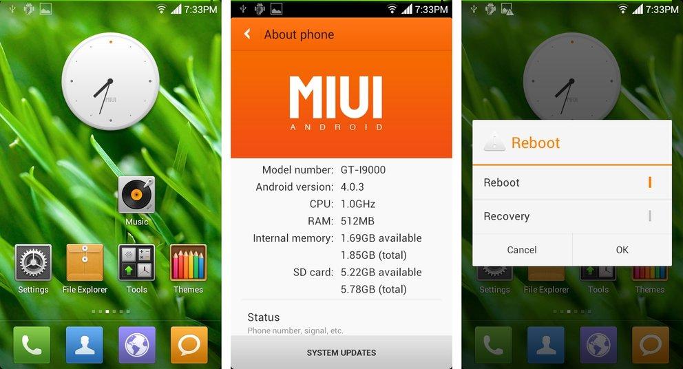 Samsung Galaxy S: Ice Cream Sandwich-basierte MIUIv4-ROM verfügbar