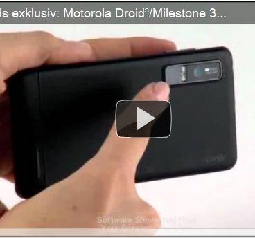 Motorola Droid 3 aka Milestone 3: Drei Tutorial-Videos geleakt