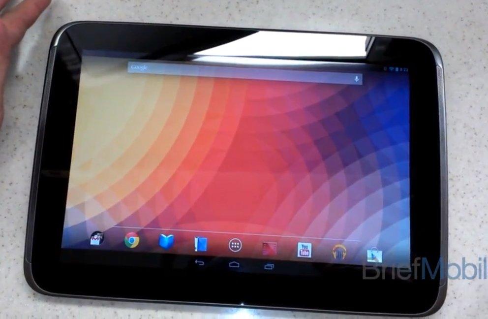 Nexus 10: Google-Samsung-Tablet in kurzem Video zu sehen