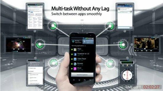 LG Optimus Speed P990 im Werbevideo