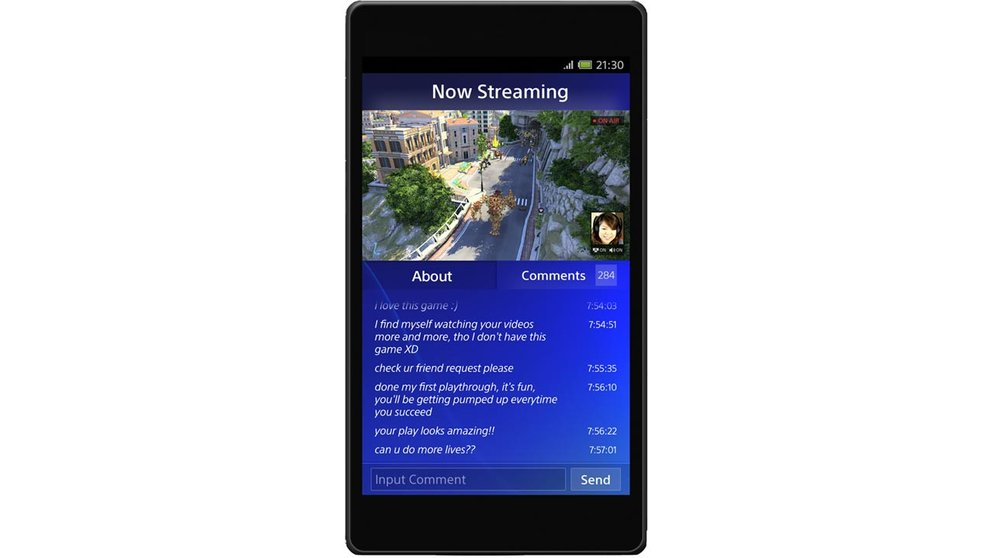 PlayStation 4 Companion: Pressebild zeigt Live-Stream-Feature der App