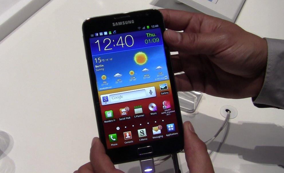 IFA 2011: Samsung Galaxy Note im Hands On-Video