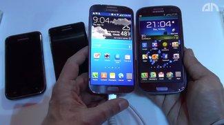 """Samsung Galaxy S4: """"Familienvergleich"""" mit Vorgängern S1, S2, S3 [Video]"""