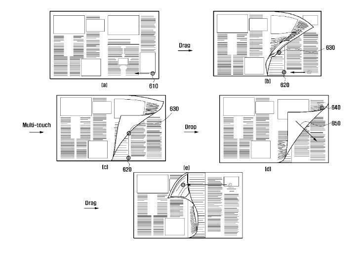 Samsung: Patent für digitales Umblättern eingereicht