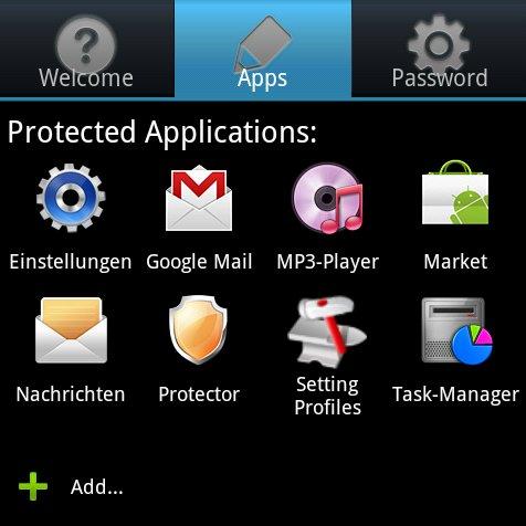 Protector: Android-Apps per Passwort vor Zugriff schützen