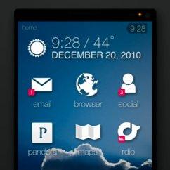 Sentio UI: Homescreen-Konzept für Minimalisten