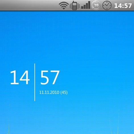 Uhr-Widget mit Kalenderwoche, Datum und Style: SiMi Clock [Update]