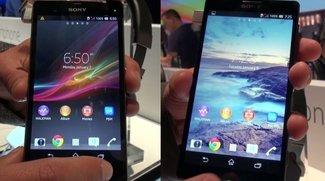 Sony Xperia Z und ZL: Hands-On-Videos der Smartphones [CES 2013]