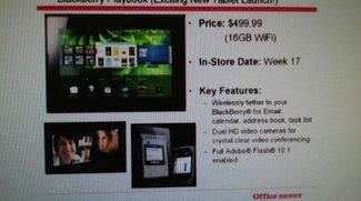 BlackBerry PlayBook Tablet ab Ende April um 499 USD?