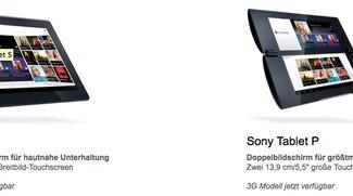 Sony Tablet P und Sony Tablet S 3G verfügbar - Sony Tablet S nur noch 429€ (Update)