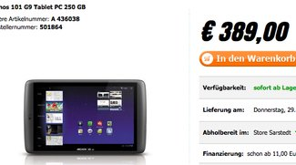 Archos 101 G9 250GB und Archos 80 G9 250GB ab sofort in Deutschland erhältlich