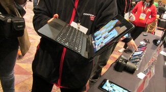 Lenovo IdeaTab S2110 Tablet mit Android Ice Cream Sandwich und Tastatur Dock - Hands On Video und Bilder