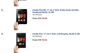 Amazon Kindle Fire HD: 32 GB Version nur in Deutschland besonders beliebt
