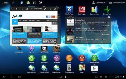 Sony-Xperia Tablet S Mini Apps