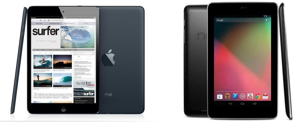Vergleich: Apple iPad mini vs. Google Nexus 7 vs. Amazon Kindle Fire HD