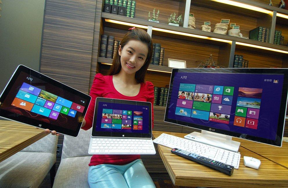 LG H160: Hybrid-Tablet samt Windows 8 vorgestellt