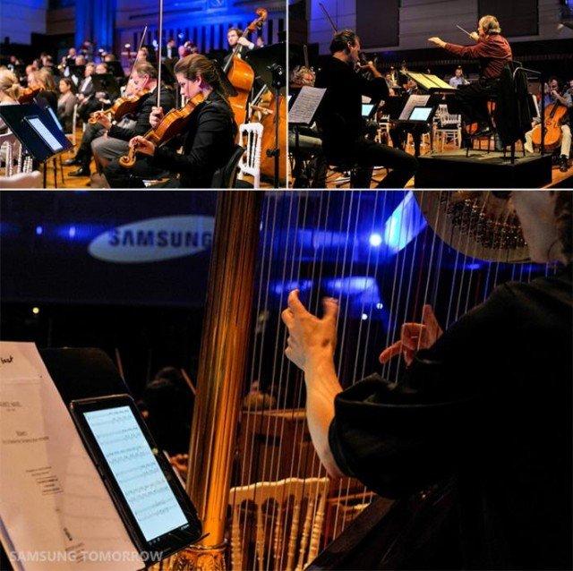 Samsung Galaxy Note 10.1 spart dem Brüsseler Philharmonie Orchester viel Geld