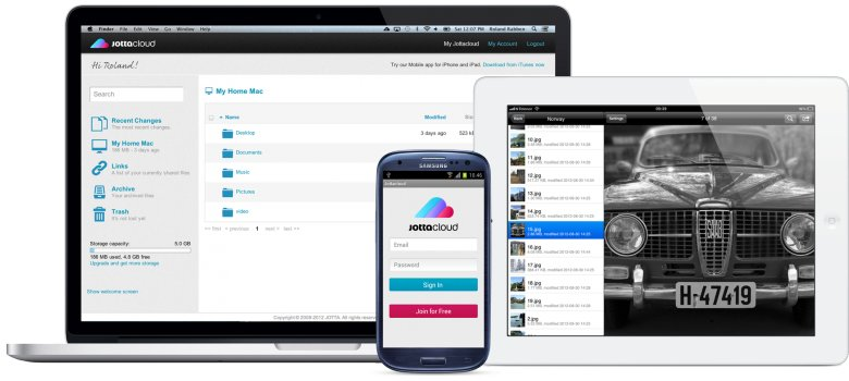 Jottacloud - Das Android- oder iOS-Tablet in der Cloud sichern