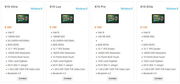 Kupa X15: Das UltraNote Windows 8 Tablet in vier Versionen ab $1.100 erhältlich