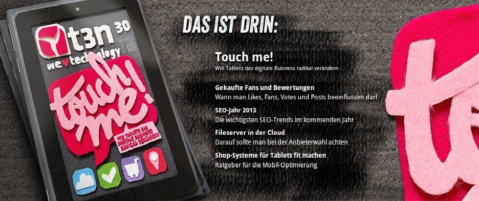 Lesetipp: t3n Nr. 30 - Touch me!