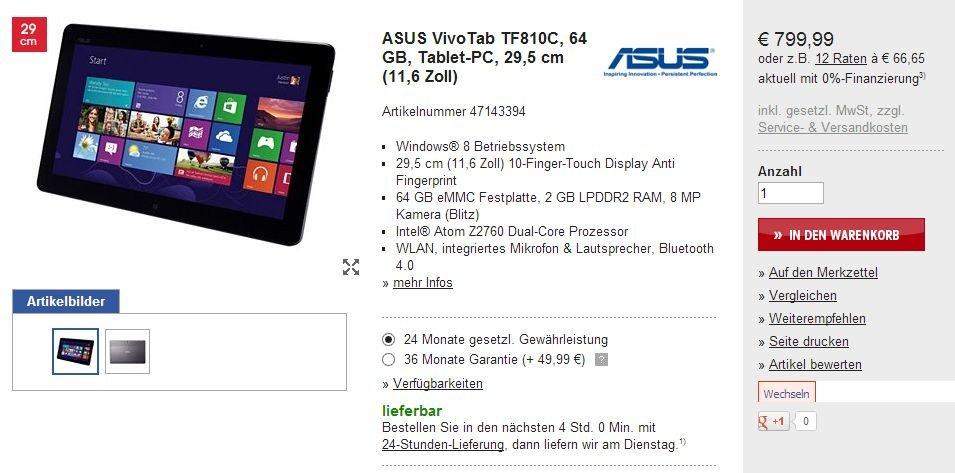 Asus VivoTab TF810C und Transformer Book TX300: Ende des Wartens auf die Windows 8 Tablets?