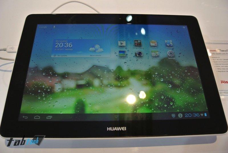 Das Huawei MediaPad 10 Link in unserem Hands-On-Video auf dem MWC 2013