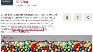 LG Optimus G Pro mit 5.5 Zoll offiziell für Korea bestätigt