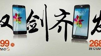 ZTE Grand S und Grand Memo: Offizielle Preise für China