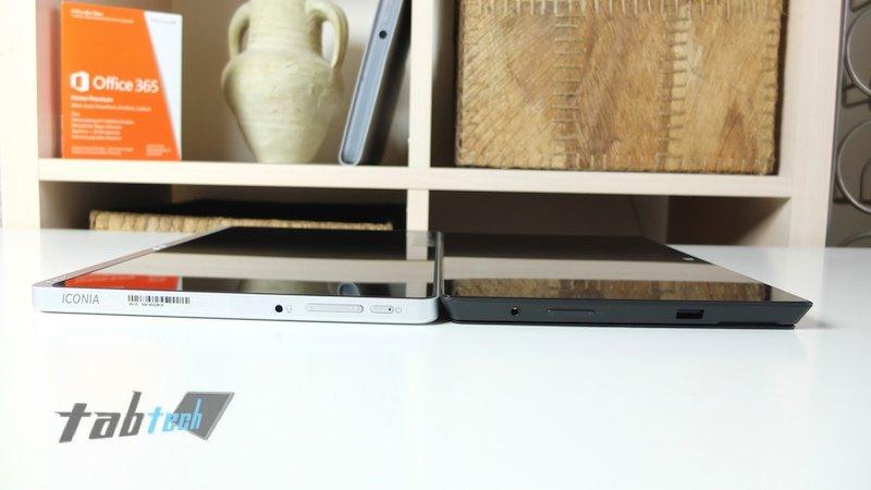 Surface Pro vs. W700 Anschlüsse