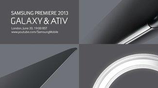 Samsung Premiere 2013: Neue ATIV und Galaxy Geräte werden am 20. Juni vorgestellt