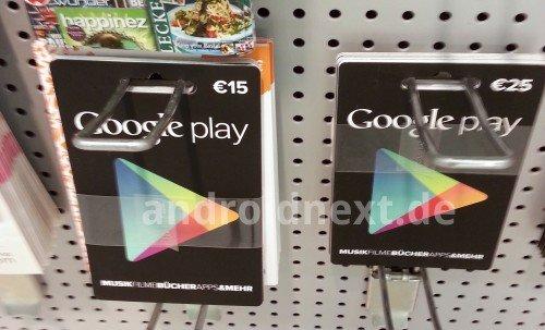 Google Play Geschenkkarten ab sofort in Deutschland verfügbar
