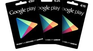 Geschenkkarten für Google Play ab sofort erhältlich