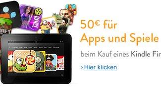 Deal: Kindle Fire HD kaufen und 50€ für Apps und Spiele erhalten