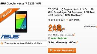 Google Nexus 7 (2013): 32GB Version für nur 249€ bei Saturn