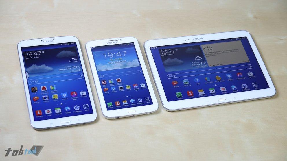 Samsung Galaxy Tab 3 7.0, 8.0 &amp&#x3B; 10.1 im Test