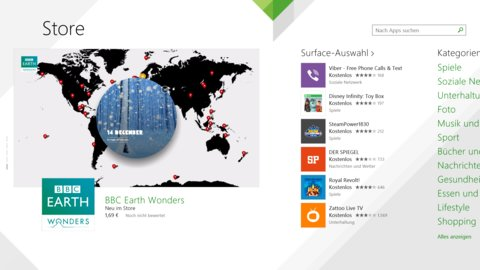 Surface 2 App Store