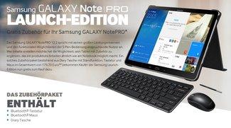 Samsung Galaxy NotePRO 12.2 Launch-Edition mit Zubehör im Wert von 179€