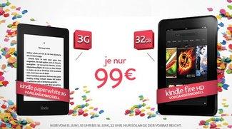 Deals: Kindle Fire HD mit 32 GB &amp&#x3B; Paperwhite 3G für je 99€