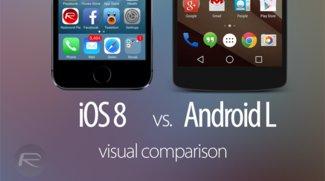 Design-Vergleich: iOS 8 Beta vs. Android L Developer Preview