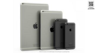 Konzept: iPad Air 2 &amp&#x3B; iPad mini Retina 2 im iPhone 6-Design