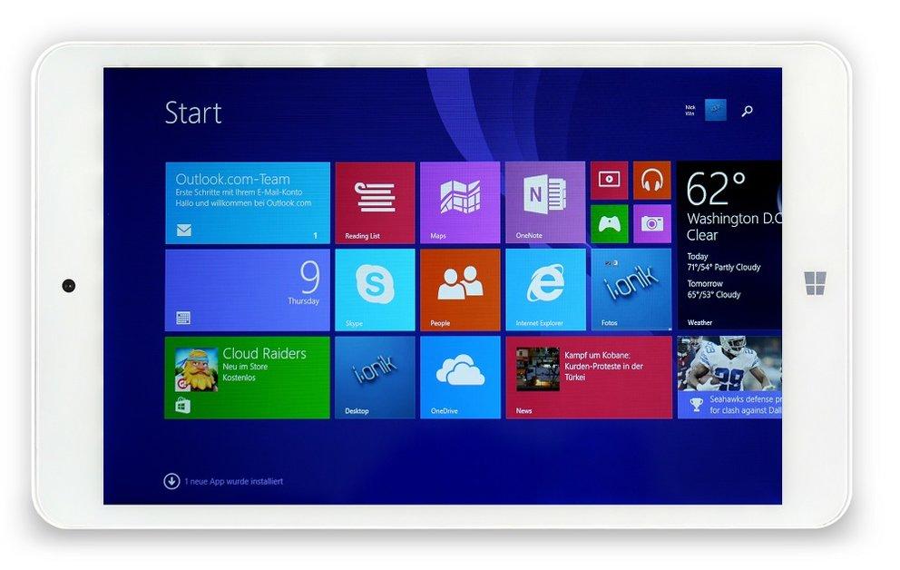 i.onik TW8 Windows 8.1 Tablet mit 8 Zoll &amp&#x3B; HDMI für 88€