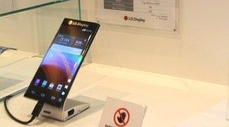 LG zeigt Dual-Edge-Display mit Active Bending hinter den Kulissen der CES 2015
