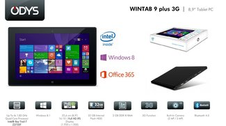 Odys Wintab 9 Plus 3G: 8,9 Zoll Windows-Tablet mit FHD-Display &amp&#x3B; UMTS für 219€