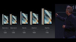 iPad mini 4 mit iPad Air 2 Hardware aber kein iPad Air 3 vorgestellt