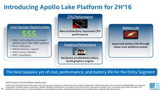 """Intel """"Apollo Lake""""-Prozessoren angekündigt: Mehr Leistung, höhere Laufzeit und geringere Kosten"""