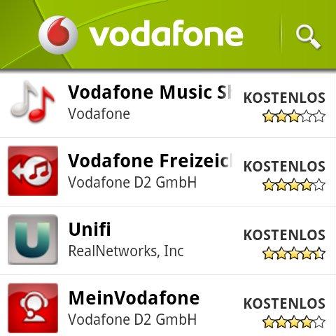 Vodafone mit eigenem Channel im Android Market [Update: So werdet ihr ihn wieder los]