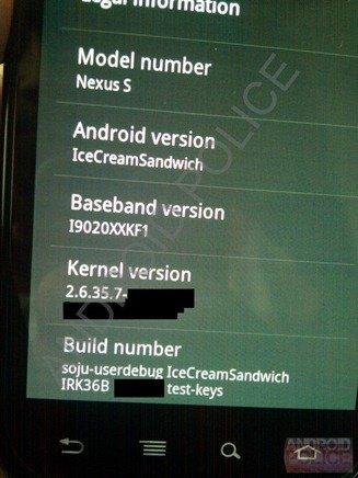 Ratespiel: Sehen wir hier Android 4.0 Ice Cream Sandwich?