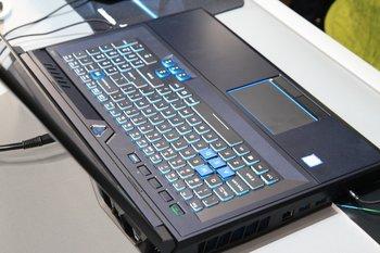 Tastatur im eingefahren Zustand