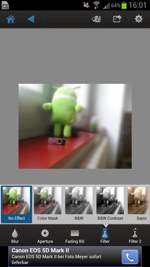 Android Testbild Effekte