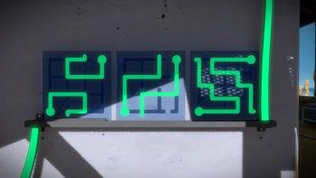 Glasfabrik: In der Mitte des Gebäudes beginnt die nächste Sequenz.
